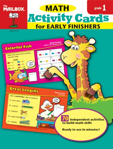 9781562348915: Activity Cards for Early Finishers: Math (Gr.1)