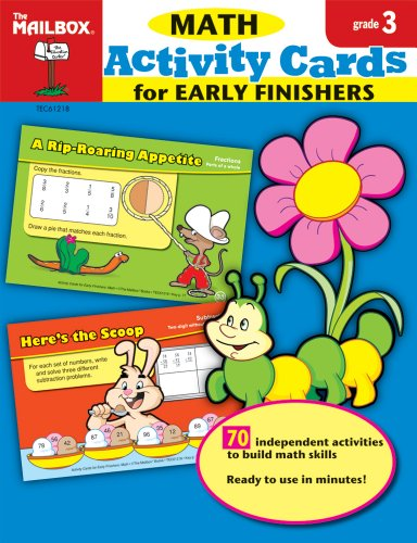 9781562348939: Activity Cards for Early Finishers: Math (Gr.3)