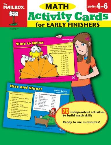 9781562348946: Activity Cards for Early Finishers: Math (Grs. 4-6)