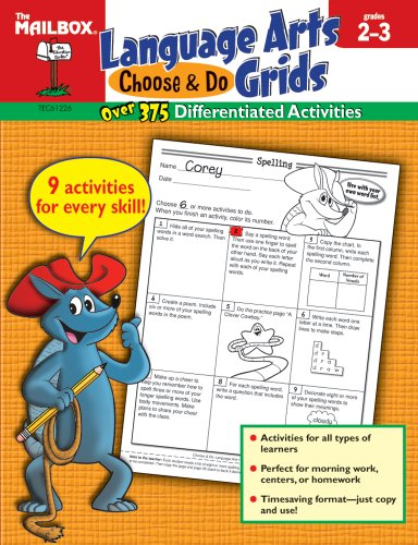 9781562349462: Choose & Do Language Arts Grids (Grs. 2-3)