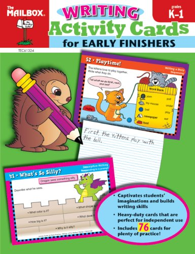 9781562349790: Activity Cards for Early Finishers: Writing (Grs. K-1)