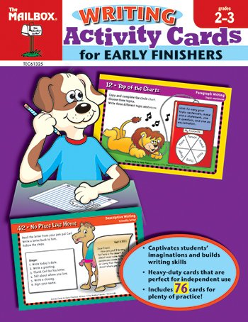 9781562349806: Activity Cards for Early Finishers: Writing (Grs. 2-3)