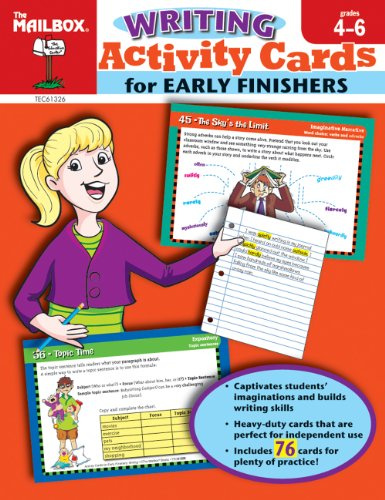 9781562349813: Activity Cards for Early Finishers: Writing (Grs. 4-6)