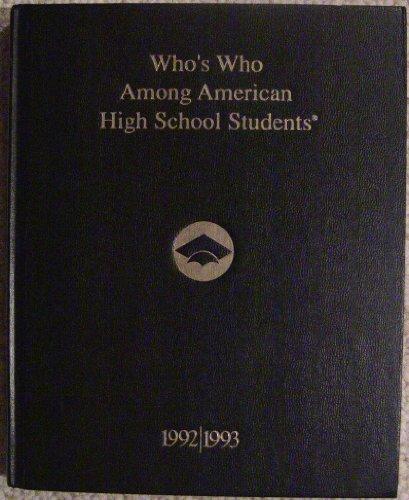 9781562440473: Who's Who Among American High School Students, 1992 93