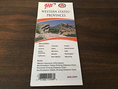 Western States/Provinces Fold-Out Map (AAA Fold-out Maps): AAA