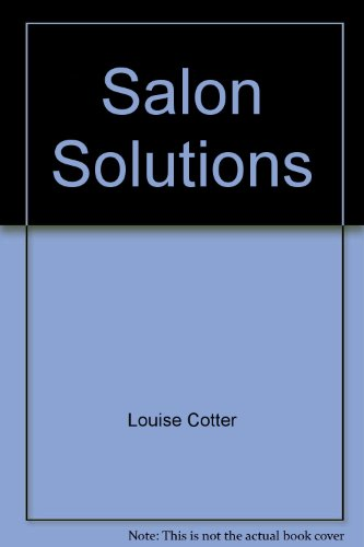 Salon Ovations Salon Solutions (Audiocassette) (1562533436) by Louise Cotter; Milady