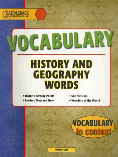 9781562543945: Vocabulary: History and Geography Words (Vocabulary in Context)