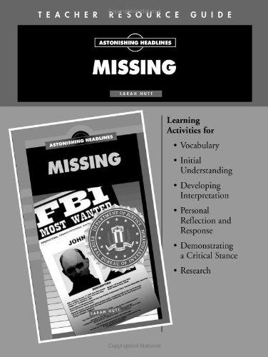 9781562548254: Missing Teacher's Resource Guide- Astonishing Headlines