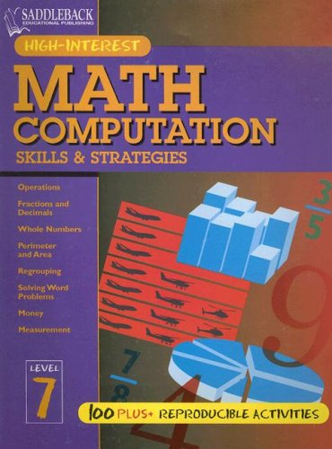 9781562549701: Math Computation Skills & Strategies: Level 7