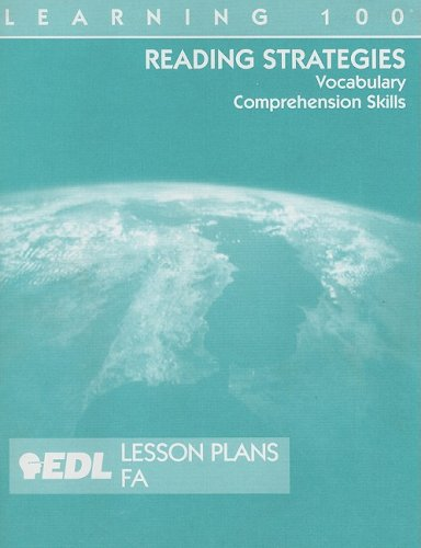 9781562609870: Reading Strategies Lesson Plans, FA: vocabulary, comprehension skills (EDL Learning 100 Reading Strategies)