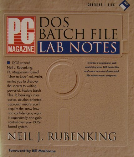 9781562760670: PC Magazine DOS Batch File Lab Notes/Book and Disk