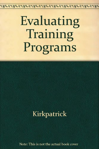 9781562860271: Evaluating Training Programs