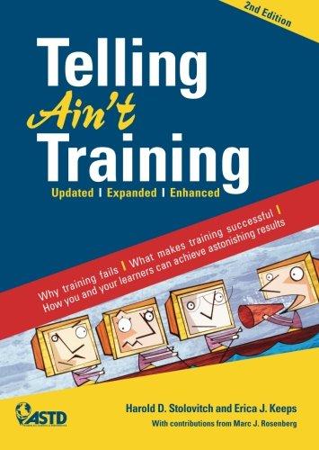 9781562863289: Telling Ain't Training