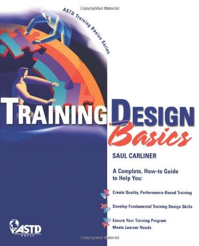 9781562863487: Training Design Basics