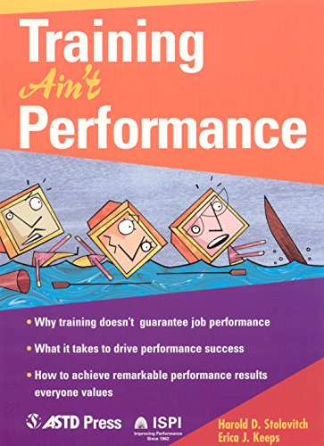 9781562863678: Training Ain't Performance