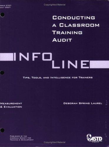 9781562864903: How to Audit Classroom Training (Infoline ASTD)