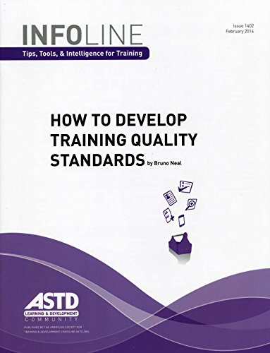 9781562869526: How to Develop Training Quality Standards (Infoline Tips, Tools, & Intelligence for Training)