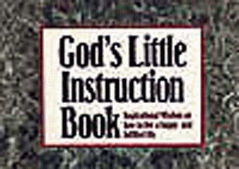God's Little Instruction Book: Inspirational Wisdom on: Honor Books