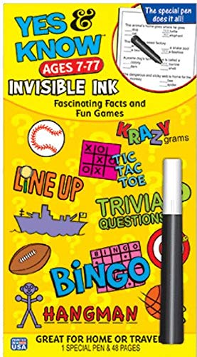 9781562970055: Invisible Ink Yes & Know 7-77