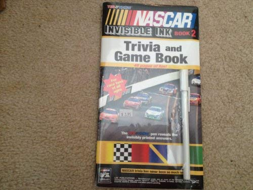 Nascar Invisible Ink Trvia & Game Book: Lee Publications