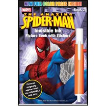 9781562975371: The Amazing Spiderman Invisible Ink with Stickers - Book 2