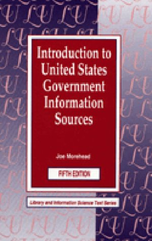 Introduction to United States Government Information Sources: Joe Morehead