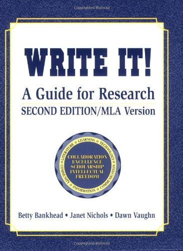 9781563086892: Write It!: A Guide for Research