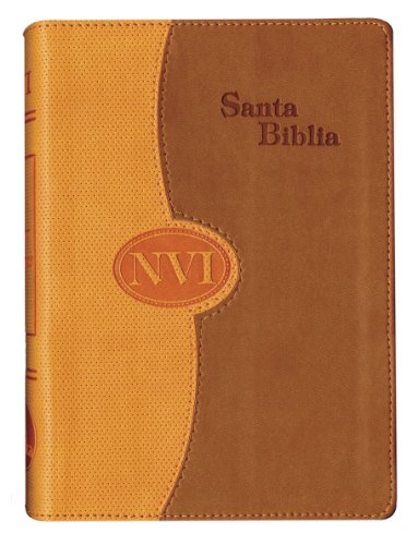 9781563204227: NVI Spanish Large Print Bible - DuoTone Orange/Tan (Spanish Edition)