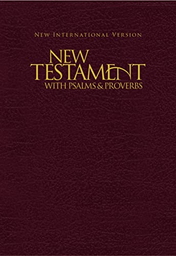 9781563206634: NIV, New Testament with Psalms and Proverbs, Pocket-Sized, Paperback, Burgundy