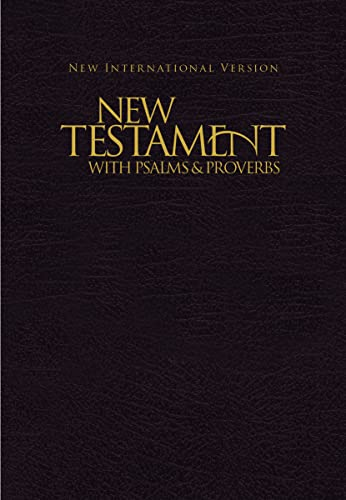 9781563206641: NIV, New Testament with Psalms and Proverbs, Pocket-Sized, Paperback, Black