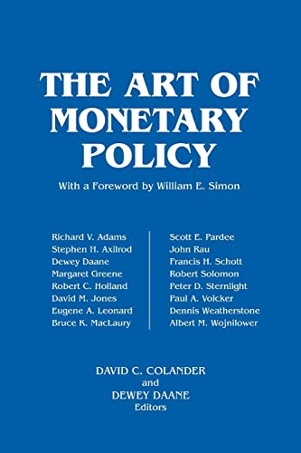 The Art of Monetary Policy: Stephen H. Axilrod;