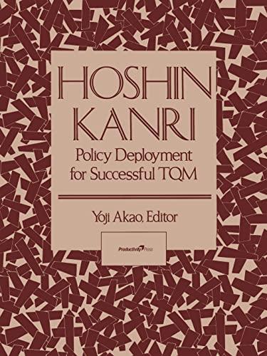 9781563273117: Hoshin Kanri: Policy Deployment for Successful TQM