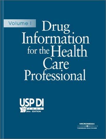 9781563634635: Usp Vol I Drug Info Health Vol: Volume I (USP DI: v.1 Drug Information for the Health Care Professional)