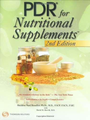 9781563637100: PDR for Nutritional Supplements