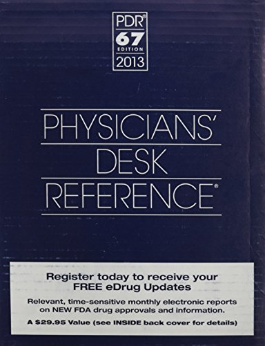 Physicians' Desk Reference 2013 (Gift box) (Physicians' Desk Reference (Bookstore Version)) (1563638142) by PDR Staff