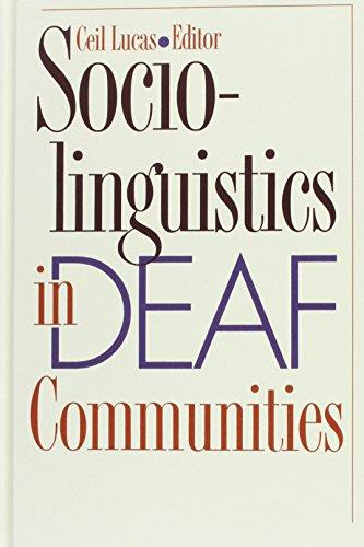 9781563680366: Sociolinguistics in Deaf Communities (Gallaudet Sociolinguistics)