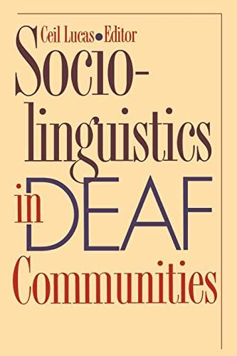 9781563683459: Sociolinguistics in Deaf Communities (Gallaudet Sociolinguistics)