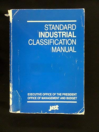 9781563700644: Standard Industrial Classification Manual