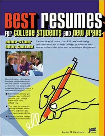 9781563709005: Best Resumes for College Students and New Grads: Jump-Start Our Career