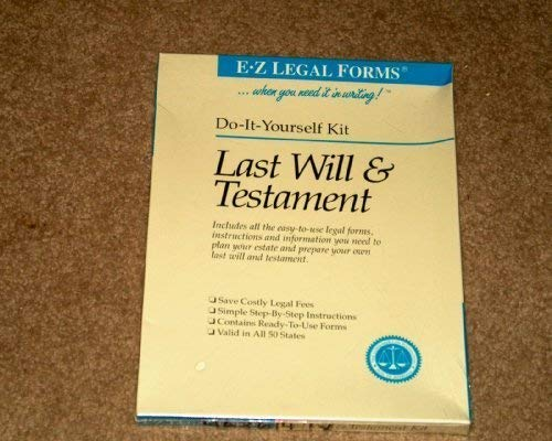 Will kit last will testament abebooks solutioingenieria Image collections