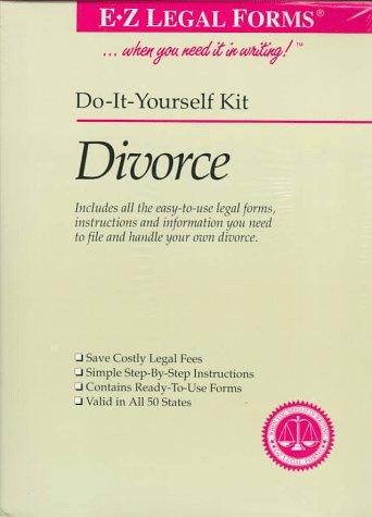 9781563821455: Divorce: E-Z Legal Kit (Do It Yourself Kit)