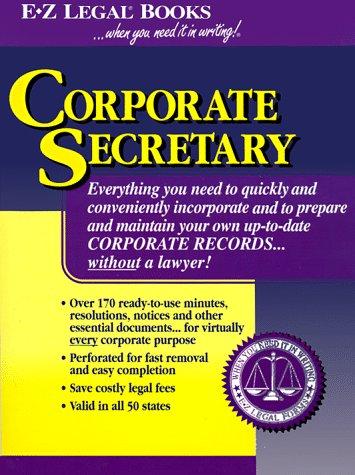 Corporate Secretary AbeBooks Legal Forms EZ - Ez legal forms