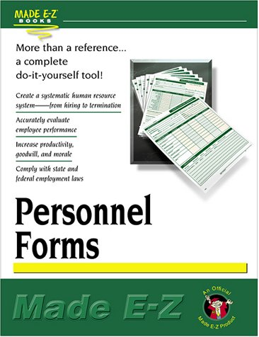 Personnel Forms (Made E-Z Guides): Made E-Z Products
