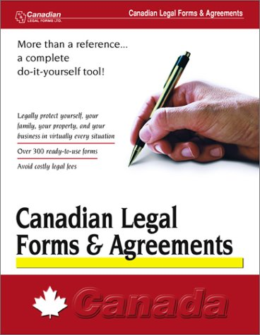 Canadian Legal Forms & Agreements: Made E-Z Products