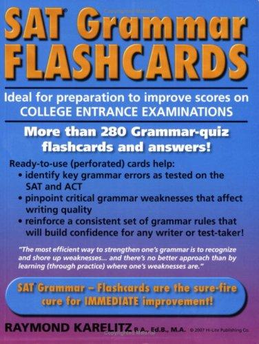 9781563910364: SAT Grammar Flashcards