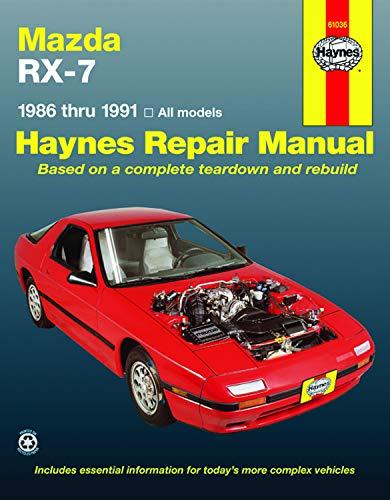 Mazda Rx-7 Automotive Repair Manual/1986 Thru 1991,: Haynes