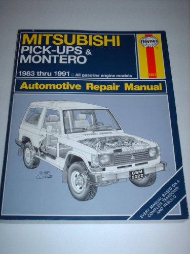 9781563920226: Mitsubishi Pick-ups & Montero 1983 Thru 1991 (Automotive Repair Manual)