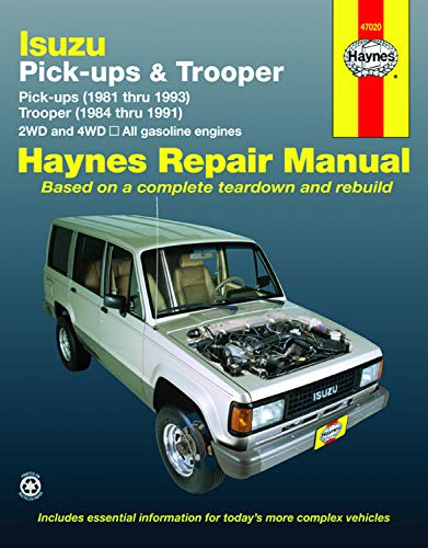 9781563920332: Isuzu Pick-ups (1981 thru 1993) & Trooper (1984 thru 1991) 2WD and 4WD, All Gasoline Engines (Haynes Repair Manuals)