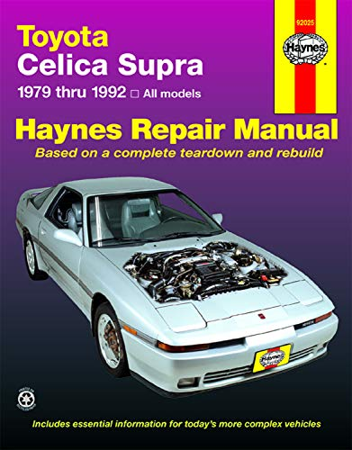 9781563920431: Toyota Celica Supra, 1979-1992 (Haynes Manuals)