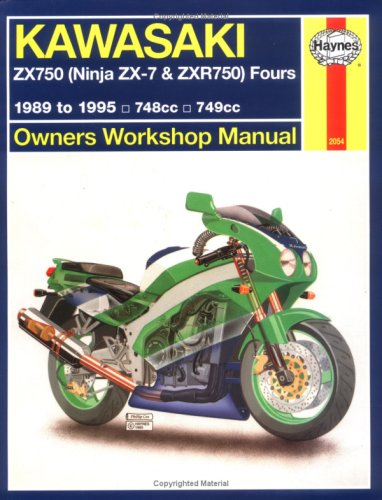 9781563920547: Kawasaki ZX750 (Ninja ZX-7 and ZXR750) Fours Owners Workshop Manual (Haynes Owners Workshop Manuals)